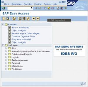 SAP-GUI-Umgebung