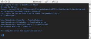 SSH CLI im Terminal